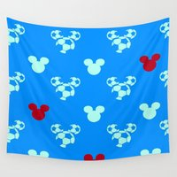 mickey Wall Tapestries featuring MICKEY MOUSE by Acus