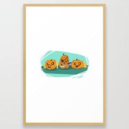 Silly Halloween Pumpkins Framed Art Print