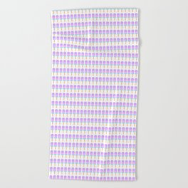 Popsicle Pattern Beach Towel