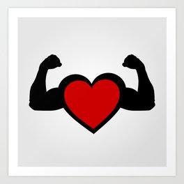 Healthy heart, healthy you Art Print
