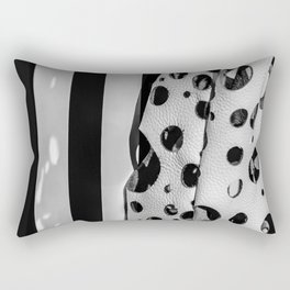 Holes And Stripes – Wallpaper And Leather Rectangular Pillow