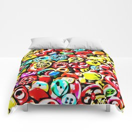 Too Many Buttons Comforters