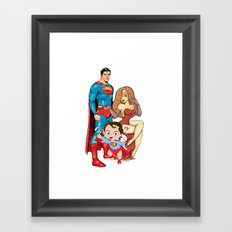super heros family Framed Art Print