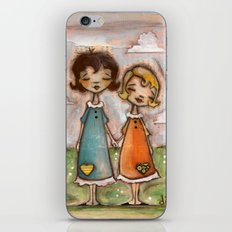 A Childhood Shared - Sister Art iPhone & iPod Skin