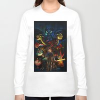 dragons Long Sleeve T-shirts featuring DRAGONS!! by Yahualli