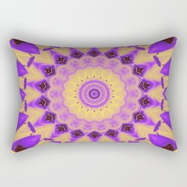 Bold Purple and Yellow Mandala Rectangular Pillow
