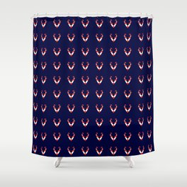 Dark fox pattern Shower Curtain