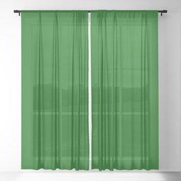 Dark Green Sheer Curtain