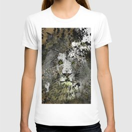 LION KING OF BEASTS ABSTRACT PORTRAIT T-shirt