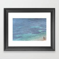 Just Dive In Framed Art Print
