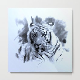 Animals and Art - Tiger Metal Print