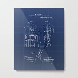 Adjustable Pattern for Drafting Garments Vintage Patent Hand Drawing Metal Print