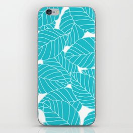 Sweet Leafs: Bermuda Blue iPhone Skin