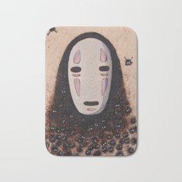 No Face - Spirited Away with Soot sprites (Susuwatari) Bath Mat