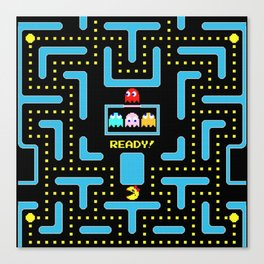 pac-man blue Canvas Print