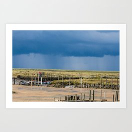Distant Rains Art Print