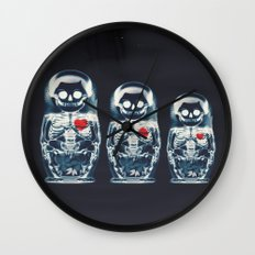 Nesting Doll X-Ray Wall Clock