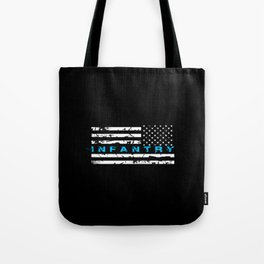 Infantry Blue Tote Bag