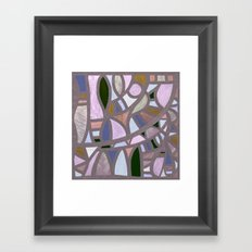 The texture of twilight Framed Art Print