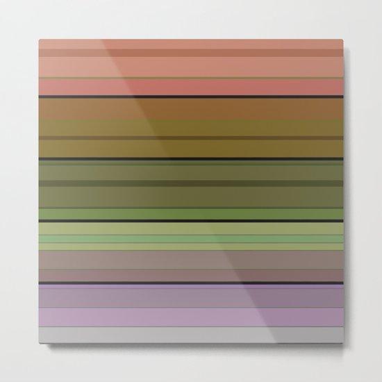 Multi-colored striped pattern . 3 Metal Print