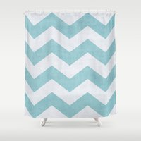 salt water Shower Curtains featuring Salt + Water by The Dreamery