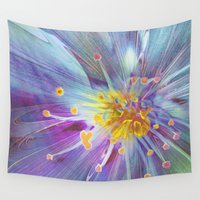 blossom Wall Tapestries featuring Blossom by Klara Acel
