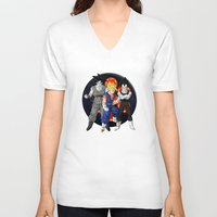dbz V-neck T-shirts featuring DBZ - Mighty Fusion by Mr. Stonebanks