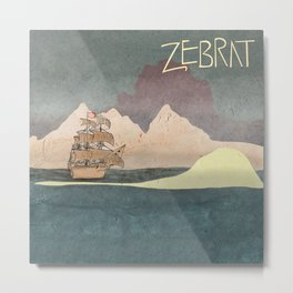 Ship - inspired by Zebrat Metal Print