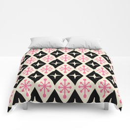 Mid Century Modern Atomic Triangle Pattern 113 Comforters
