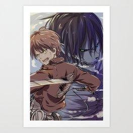 SnK-Eren Art Print