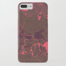 Grey Marble and Coral iPhone 7 Plus Slim Case