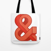 ampersand Tote Bags featuring Ampersand by Damien Faivre