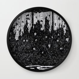 Things Fall Apart Wall Clock