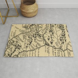 Vintage Map of Nicaragua and Costa Rica (1764) Rug