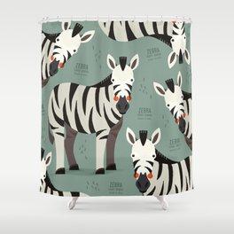 Zebra, African Wildlife Shower Curtain