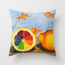 Fish R Friends, Not Food Throw Pillow