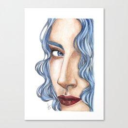 Blue hair Canvas Print