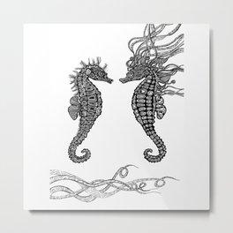 Seahorses love Metal Print