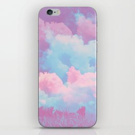Pink cloud iPhone Skin