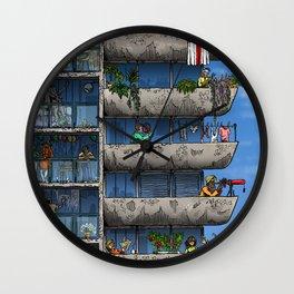 Brutalist Utopia Wall Clock