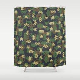 Invaded Camo WOODLAND Shower Curtain