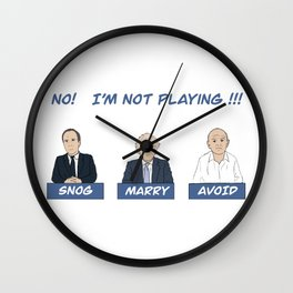 Snog, Marry, Avoid - No, I'm Not Playing Wall Clock