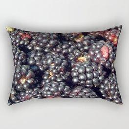 Blackberries berry still life and texture composition Rectangular Pillow