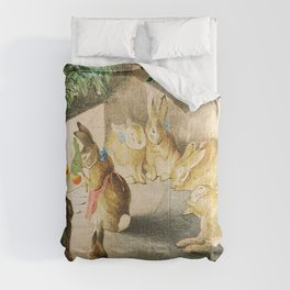 Beatrix Potter Christmas bunnies Comforters