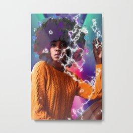 Neon Girl Metal Print