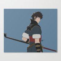 fire emblem Canvas Prints featuring Lon'Qu - Fire Emblem Awakening  by MKwon