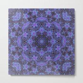 Blue and Purple Kaleidoscope 2 Metal Print