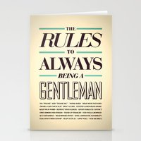 gentleman Stationery Cards featuring Gentleman! by ALLGOLD Creative