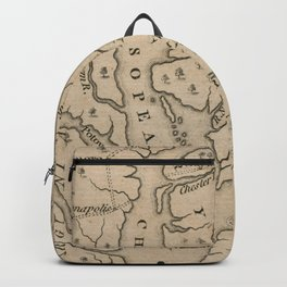 Vintage Map of The Chesapeake Bay (1769) Backpack