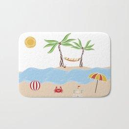 Summer Beach Fun Bath Mat